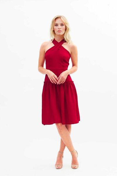 Rotes kleid mit schleife aus seide rani avocadostore - Rotes kleid amazon ...