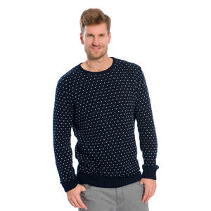 Summit Strickpullover Dunkelblau - bleed