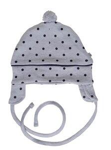 Baby Mütze grau Bio Baumwolle EBi & EBi - EBi & EBi