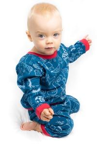 """Kipepeo Pyjama """"Karibu Duniani"""" petrol - Kipepeo-Clothing"""