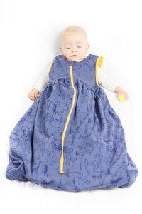 Kipepeo Babyschlafsack Karibu Duniani Grau/Gelb - Kipepeo-Clothing
