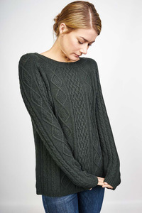 Rachel Aran Cable Knit Jumper - bibico