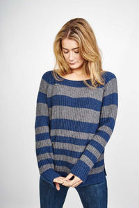 Orla Striped Wool Sweater - bibico