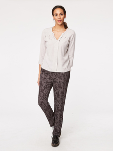 Mitchel Modal Print Trousers  - Thought