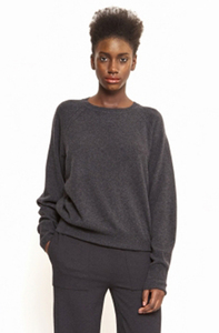 Cici Lambswool Sweater - Dark Grey Melange - Maska