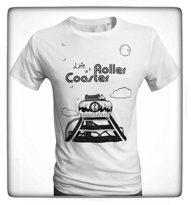 Herren T-Shirt 'Roller Coaster', T-Shirt aus Biobaumwolle - Coaster Roller