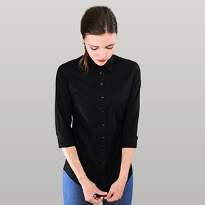 Damen Bluse schwarz von MELAWEAR - Fairtrade & GOTS zertifiziert - MELAWEAR