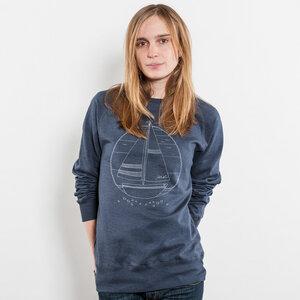 Keregan Ahoi Schiffchen Unisex Recycled Organic Sweatshirt - Nikkifaktur