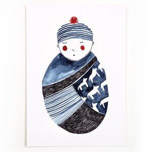 Postkarte Baby - Gretas Schwester