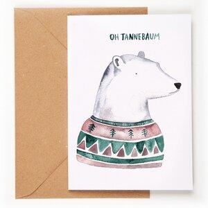 Weihnachtskarte Oh Tannenbaum - Gretas Schwester