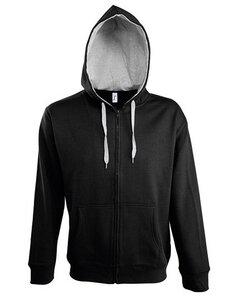 Contrasted Zipped Hooded Jacket Soul Men Paul - University of Soul