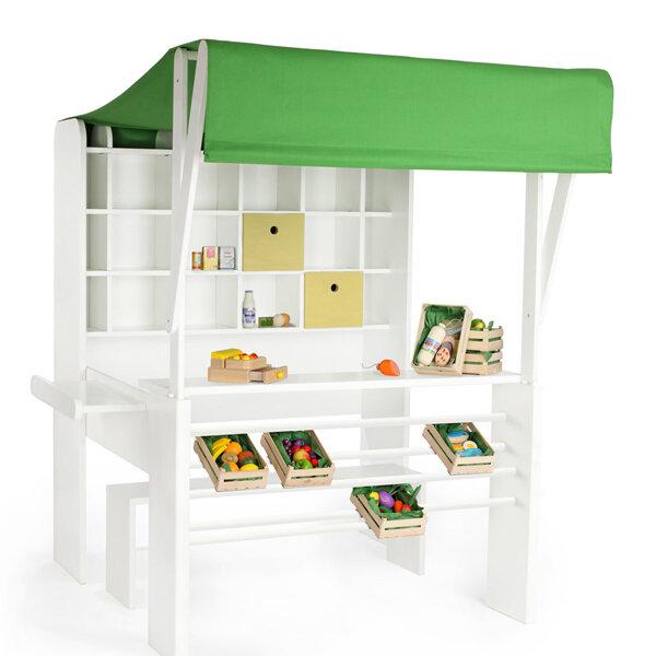 naturehome naturehome kaufladen handarbeit holz in bio naturfarbe wei zusammenklappbar. Black Bedroom Furniture Sets. Home Design Ideas