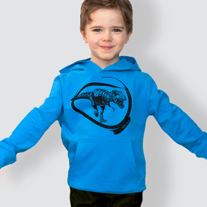 """Kinder Hoodie, """"Dino"""", Azur - little kiwi"""