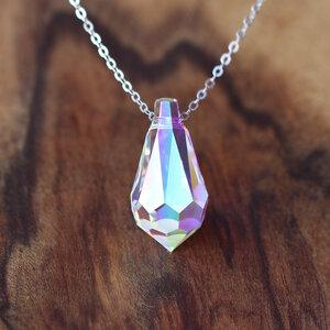 Love Drop Aurora, Regenbogen-Farbe, 925er Silber - JuliaPilot