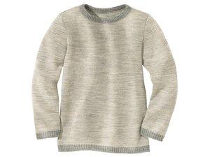 Disana Basic Pullover grau-melange 100% kbT Wolle - Disana