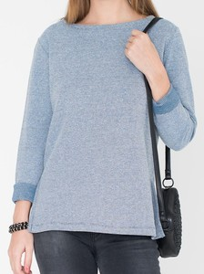 Sweater Camilla: Ocean Blue, Lange Ärmel,  - Miss Green