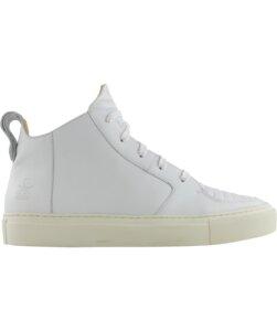 Argan Mid Weißes Leder  - ekn footwear