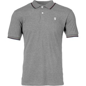 Pique Polo - GOTS - Grey Melange - KnowledgeCotton Apparel
