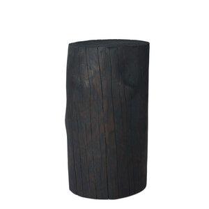 Baumstamm Säule Fichte geflammt Gartendeko Holzblock Holzklotz - GreenHaus