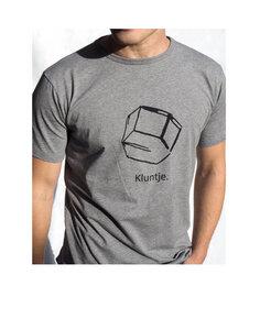 Kluntje T-Shirt mit Logo in Grau - Kluntje