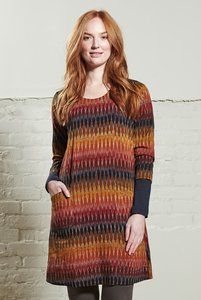 Ikat Tunic Dress Cinnamon - Nomads Fair Trade Fashion