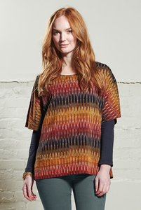 Ikat Tunic Top Cinnamon - Nomads Fair Trade Fashion