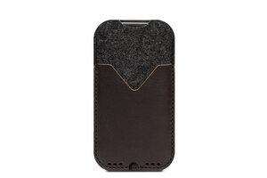 "iPhone SE (2020) / 8 / 7 / (4.7"") Hülle KIRKBY Anthrazit/Dunkelbraun (Mulesing-frei) - Pack & Smooch"