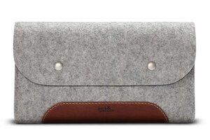 Kabel-Tasche, Zubehör Tasche CORRIEDALE XS Wollfilz, Leder - Pack & Smooch