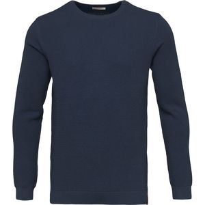 Pique Crew Neck Knit - Total Eclipse - KnowledgeCotton Apparel