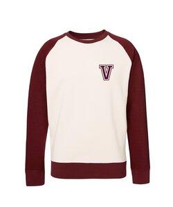 Unisex Sweatshirt 'College' Vintage White / Burgundy - University of Soul
