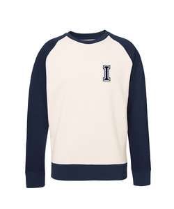 Unisex Sweatshirt 'College' Vintage White / Navy - University of Soul