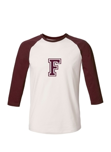 Unisex T-Shirt 'College' Vintage White / Burgundy - University of Soul