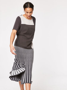 Agnes Pleated Midi Skirt - Thought | Braintree