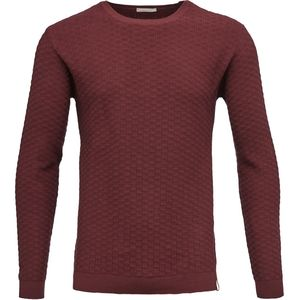 Strickpullover - Round Neck Pullover - Tawny Red - KnowledgeCotton Apparel