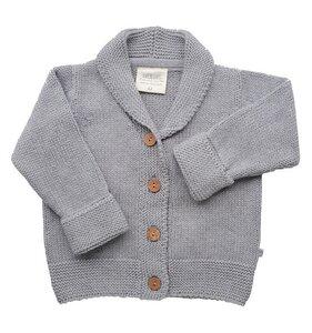 Baby Strickjacke grau Bio Baumwolle EBi & EBi - EBi & EBi