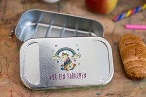 Lunchbox Einhorn, Brotdose, Brotbox, Vesperdose, Sandwichdose - CP Cameleon Pack Lunchbox