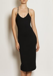 Slip Midi Dress - Black - WORON.