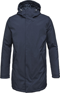 Long Soft Shell Quilted Jacket - Total Eclipse - KnowledgeCotton Apparel