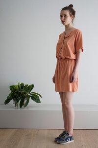 Kleid - BASEdress peach - CUS