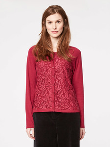 Victoria Lace Organic Wool Cardigan  - Thought