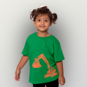 Bagger Kinder T-Shirt Fair wear organic - shop handgedruckt