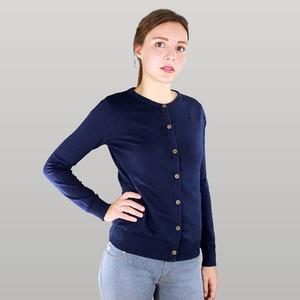 Damen Cardigan in blau - Fairtrade & GOTS zertifiziert  - MELAWEAR