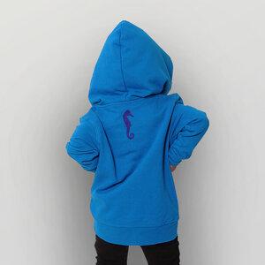 'Seepferdchen' Kinder-Hoody FAIR WEAR ORGANIC - shop handgedruckt