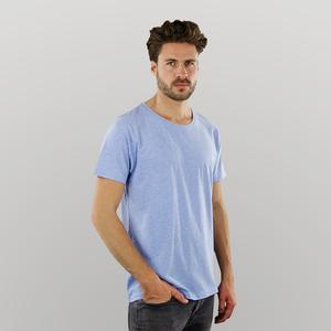 Herren T-Shirt in blau-melange - Fairtrade & GOTS zertifiziert - MELAWEAR