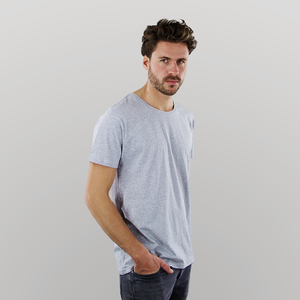 Herren T-Shirt in grau-melange - Fairtrade & GOTS zertifiziert - MELAWEAR