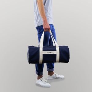 sports bag 'ansvar III' in blau - Fairtrade & GOTS zertifiziert  - MELAWEAR