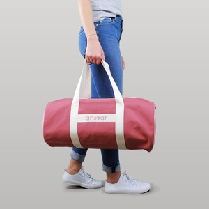 sports bag 'ansvar III' in altrosa - Fairtrade & GOTS zertifiziert  - MELAWEAR