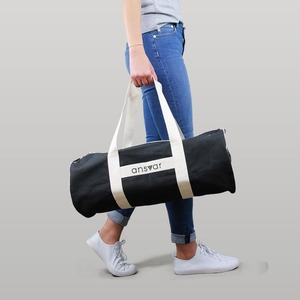 sports bag'ansvar III' in anthrazit - Fairtrade & GOTS zertifiziert  - MELAWEAR