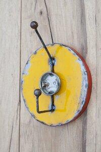 Ölfässer Aufhänger/Garderobe, gelb - Africa Design