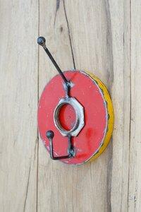 Ölfässer Aufhänger/Garderobe, Rot Gelb - Africa Design